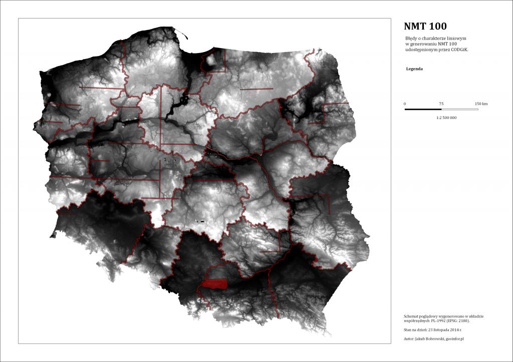 Mapa błędów NMT100