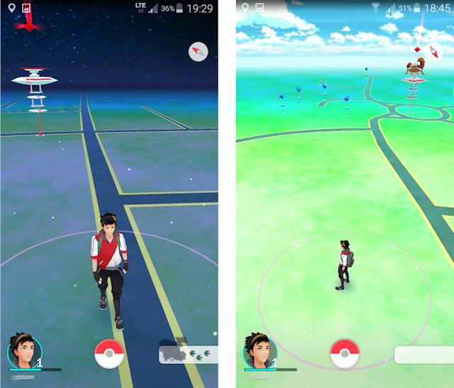 Mapy w grze Pokemon Go