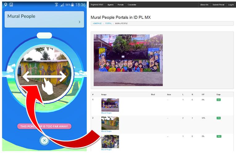 Porównanie źródeł danych w grze Pokemon Go