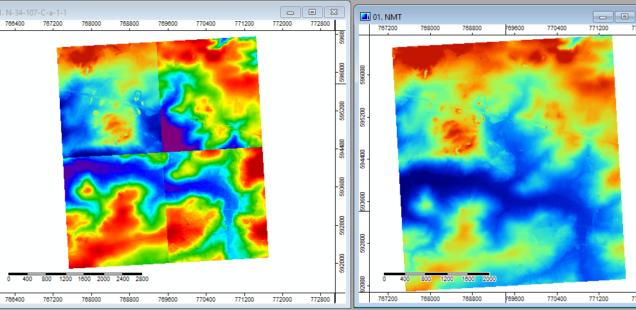 Łączenie rastrowych NMT w SAGA GIS
